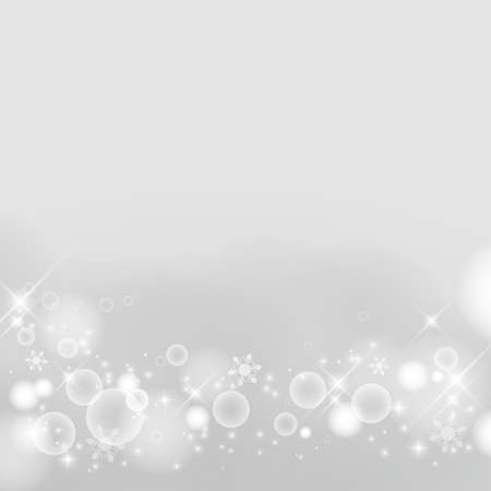 Abstract background of winter images, snowflakes. Glittering and luxury. silver. (decoration at the bottom)