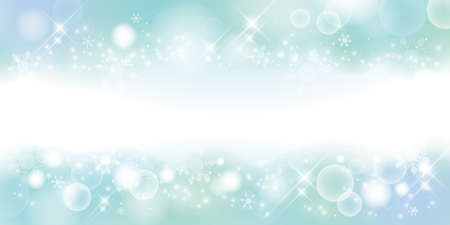 Light blue with transparency. Winter material background, snowy landscape. 2:1 ratio(decoration at the top and bottom)