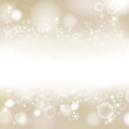 Abstract background of winter images, snowflakes. Glittering and luxury. champagne gold. (decoration at the top and bottom) Stock fotó