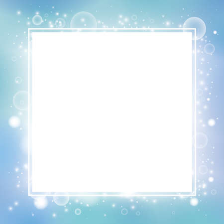 Soft bubbles drifting. Mysterious abstract background material (Margin in the center)