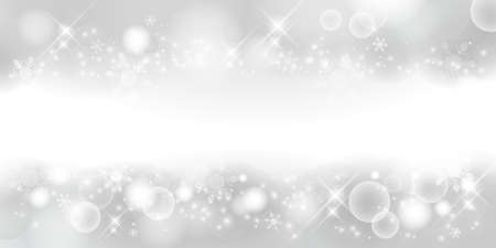 Silver color. Winter material background, snowy landscape. 2:1 ratio(decoration at the top and bottom)