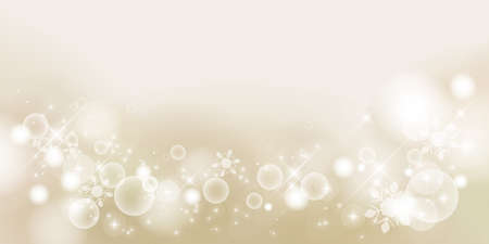 Champagne Gold. Winter material background, snowy landscape. 2:1 ratio(decoration at the bottom)