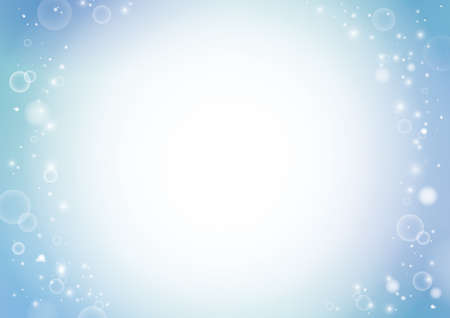 Beautiful Water, Bubbles Background Material (lateral length A3,A4 ratio)