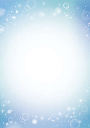 Beautiful Water, Bubbles Background Material (vertically long A3,A4 ratio)