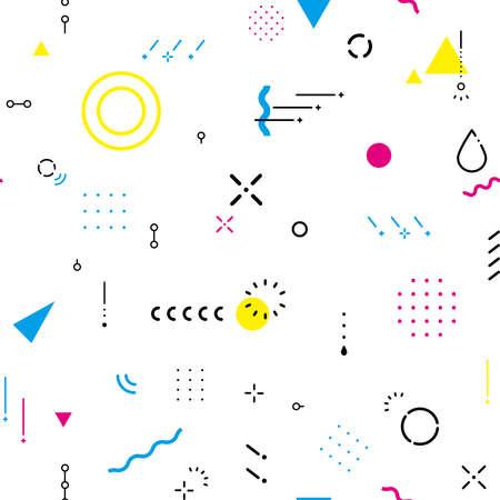Rain shape, geometric pattern, background material (pop color), continuous pattern, seamless. Vetores
