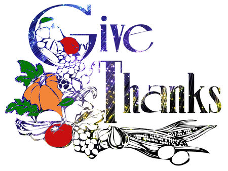 give thanks for thanksgiving Çizim