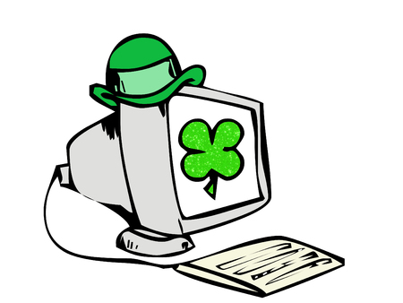 irish computer Illustration