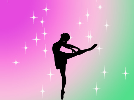 silhouette of a ballerina on pretty background