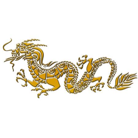a dragon done in pretty gold Illustration