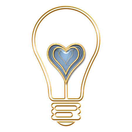 a lightbulb with a pretty heart in it Imagens - 5225754