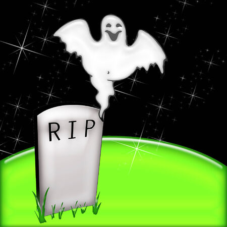 a ghost and tombstone just right for halloween