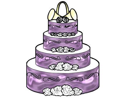 Eine große Hochzeitstorte in schönen Farben Standard-Bild - 5212681
