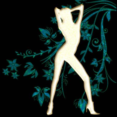 Silhouette di una donna sexy Archivio Fotografico - 5212684