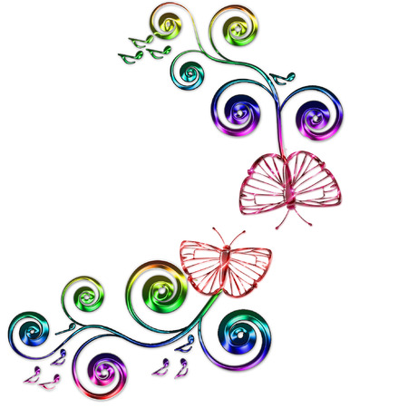 a butterfly and music notes Stock Vector - 5274922