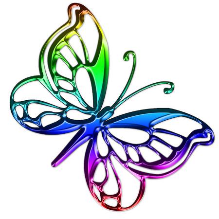 een vrij heldere en kleurrijke vlinder