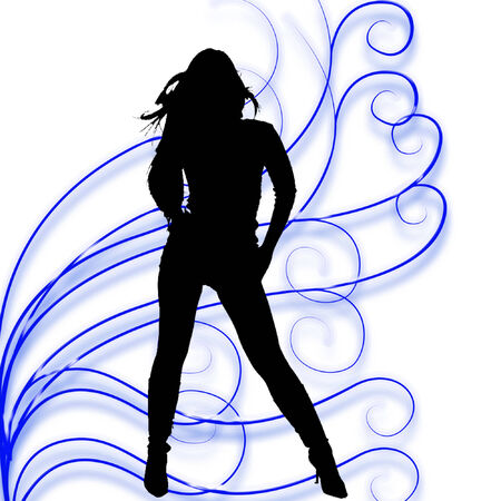 silhouette of a sexy woman