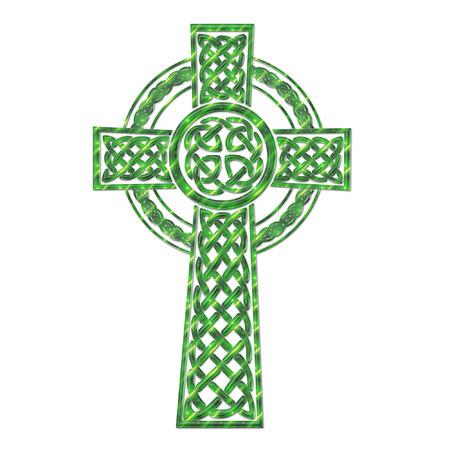 een mooie kleurrijke ingewikkelde Keltisch kruis Stock Illustratie