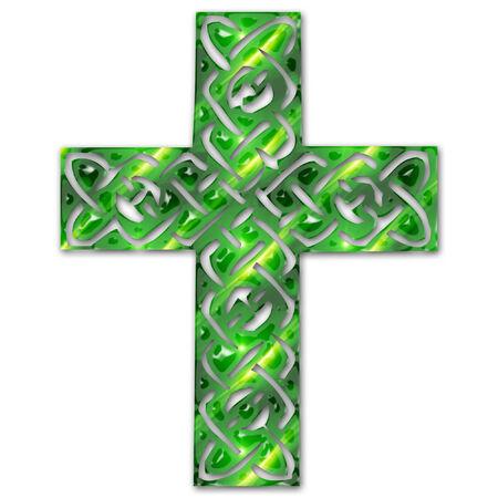 Una bella colorata intricata croce celtica Archivio Fotografico - 5274985
