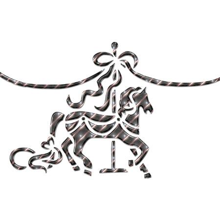 merry go round: a pretty little carousel horse