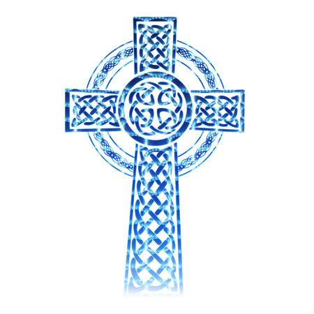 keltische muster: eine recht bunte komplizierte keltischem Kreuz Illustration