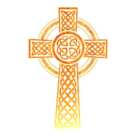 a pretty colorful intricate celtic cross Vector
