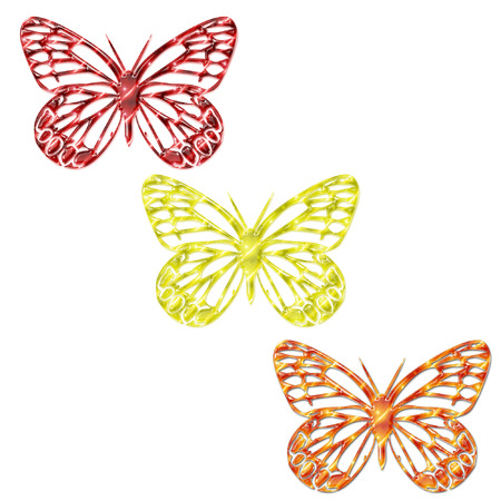some pretty bright and colorful butterflies Stock Vector - 5285707