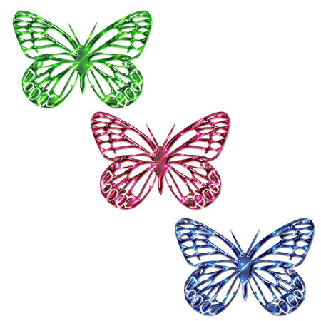 some pretty bright and colorful butterflies Stock Vector - 5285709