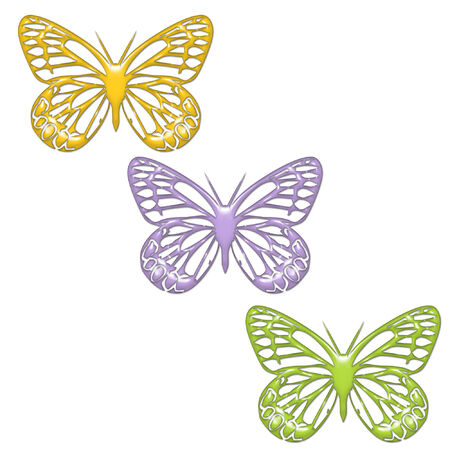 some pretty bright and colorful butterflies Stock Vector - 5285706