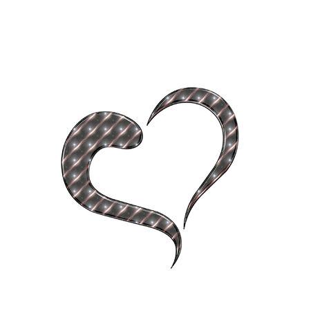 romance: a very pretty and bright heart design Illustration