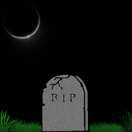 a tombstone just right for halloween