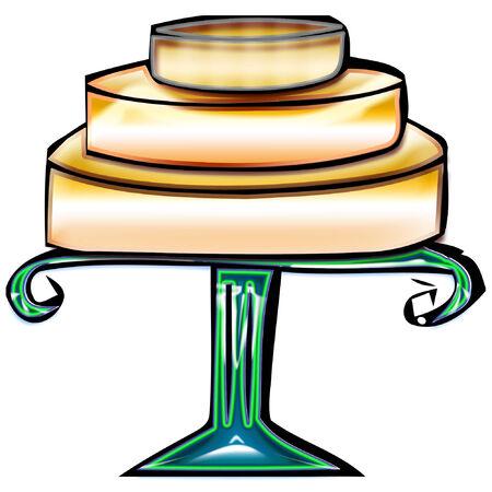 a colorful looking cake for desert Illusztráció