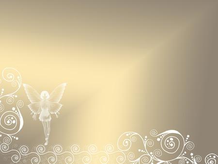 a fairy silhouette on a pretty background Banco de Imagens - 5319536