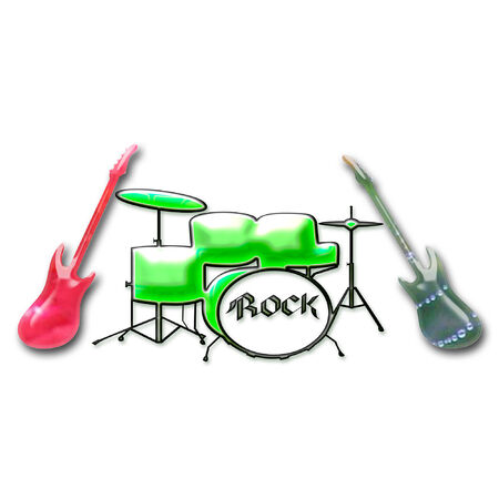 band instruments: band instruments done in bright colors