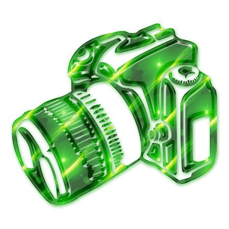 a digital camera in cool colors