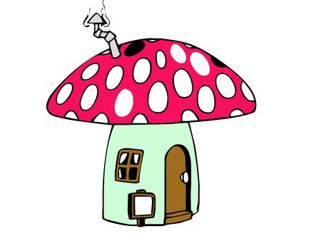 cute little mushroom house