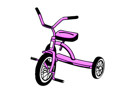 a little tricycle done in cool colors