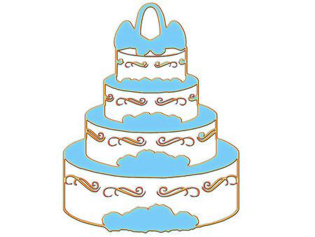 elegant wedding cake ready for the party  向量圖像