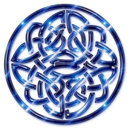 a large brightly colored celtic knot  矢量图像