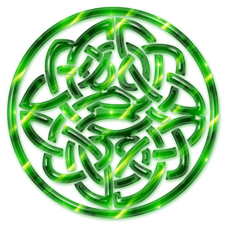 a large brightly colored celtic knot  Illustration