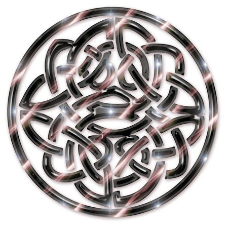 a large brightly colored celtic knot  Ilustracja