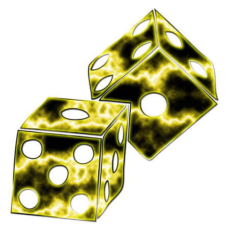 a pair of large and colorful dice to play with