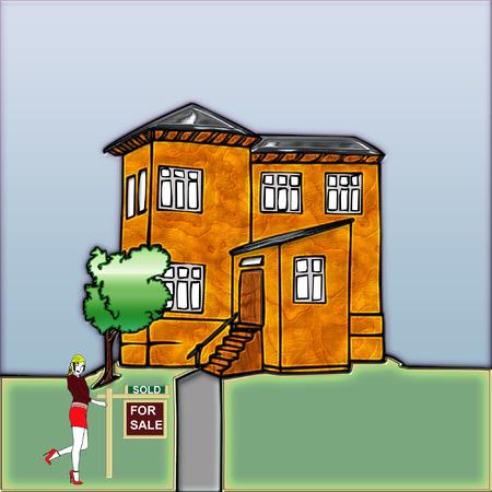 een mooi groot huis klaar is voor iemand om te kopen