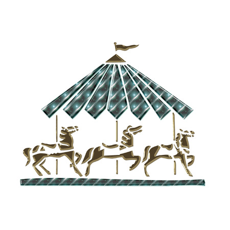 a pretty little carousel horse Imagens - 5761374