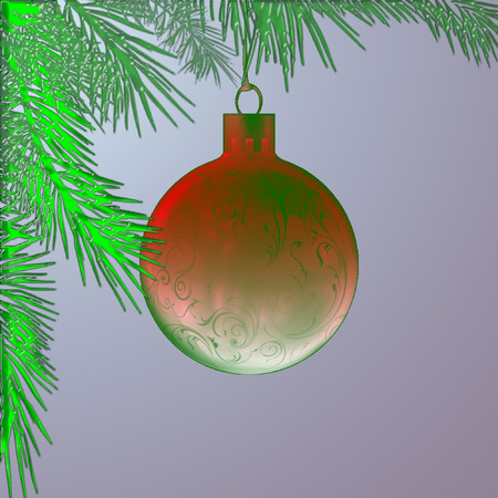 pretty christmas ornament hanging from a tree branch