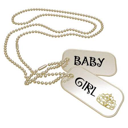 a set of dog tags saying baby girl Stock Vector - 5873567