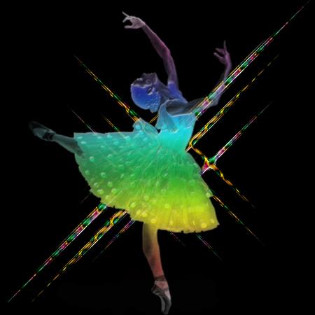 a ballerina on a pretty background  Ilustrace