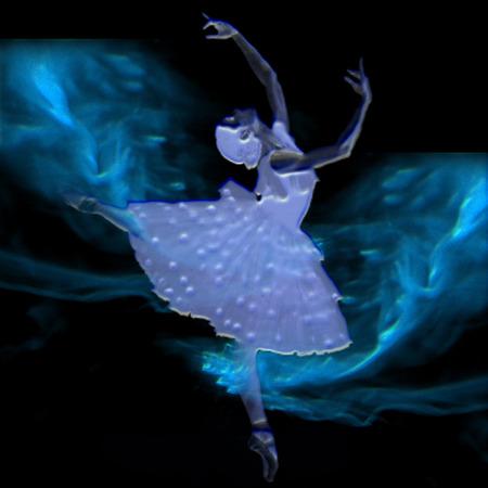 a ballerina on a pretty background Reklamní fotografie - 6154394