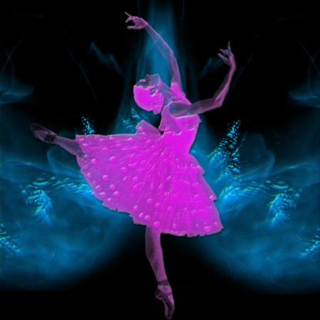 a ballerina on a pretty background Reklamní fotografie - 6154374