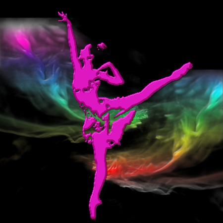 a ballerina on a pretty background  Illustration