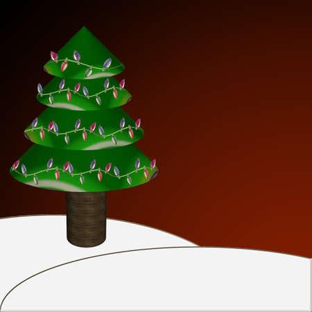 明るい色でクリスマス ツリー  イラスト・ベクター素材